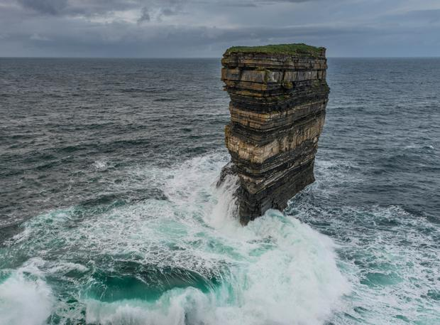 Downpatrick Head. Photo: Cutmedia with Mayo County Council Tourism Dept.