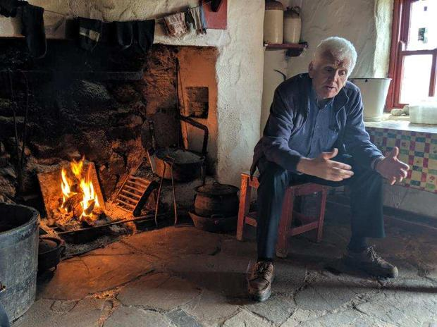 'When you can finally leave your house and travel West you can come and visit our house! The door will be open, a chair waiting beside the fire, a Céad Míle Fáilte and a scéal or two!' Photo: Twitter / @danoharafarm