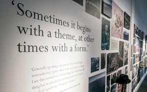 Seamus Heaney HomePlace in Bellvaghy, Co. Derry. Inside the exhibition.