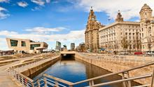 The rejuvenated dock area of Liverpool city