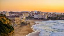 Sun, sea and surf: The beach at Biarritz