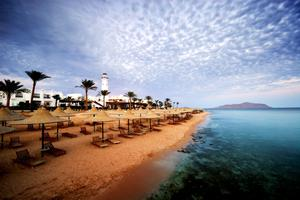 An empty beach at Sharm El Sheikh, Egypt