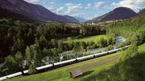 The rail trip takes in both the Dolomites and Austrian Alp