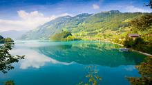 Switzerland: The lakes are a particular shade of powder blue that you only get from glacial waters.