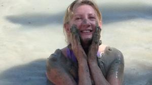 Deirdre Conroy at the mud baths.