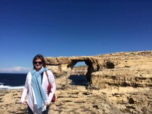 Madeleine at Gozo's Azure Window.