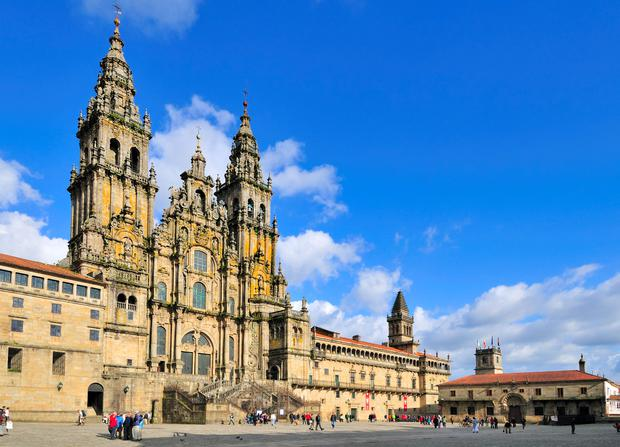 The cathedral at Santiago de Compostela... end point for many walkers.