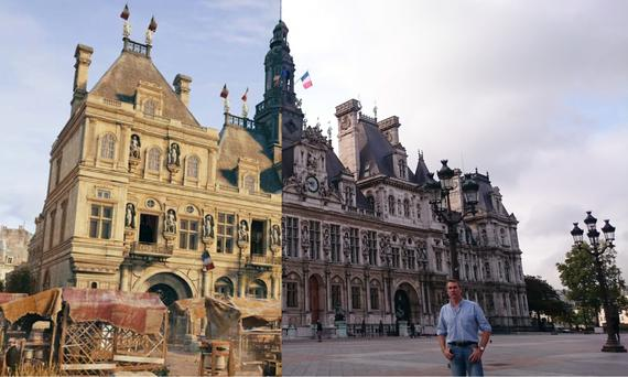 Game on: Conor Power at the Hotel de Ville which is composited with Assassin's Creed Unity's photorealistic graphics.