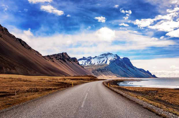 Open road in Iceland
