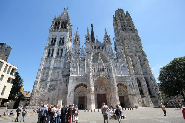 Rouen's gothic cathedral.