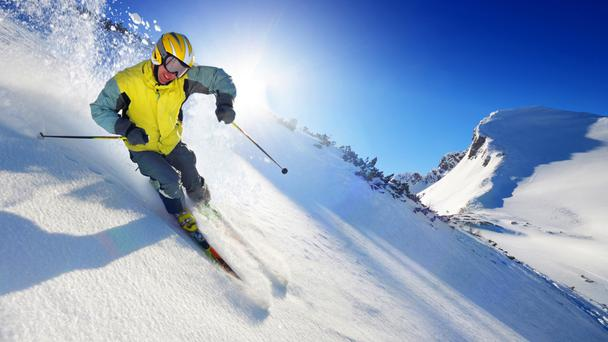 With gritty determination and nerves of steel, Joe made it off the beginner slopes