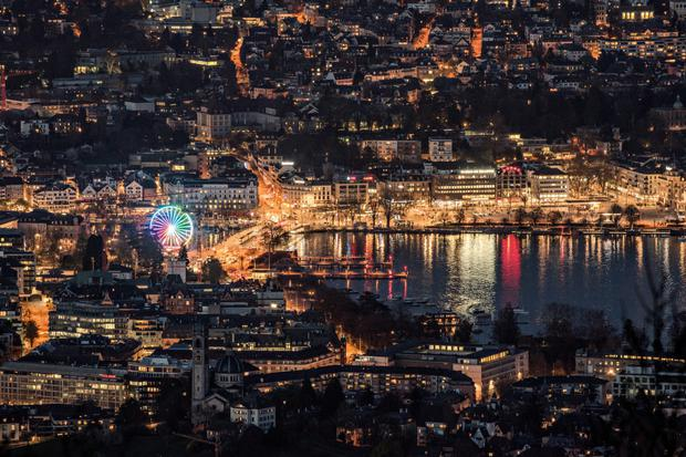 The pretty city of Zurich, home to many excellent food producers, is built around Lake Zurich. Photo: Switzerland Tourism/swiss-image.ch/Sylvia Michel