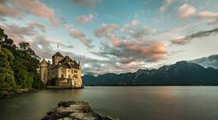 The fairytale Castle Chillon, which is located on Lake Geneva's eastern shore, has inspired many writers, including Byron, Shelley and Rousseau. Photo: swiss-image.ch/Ivo Scholz