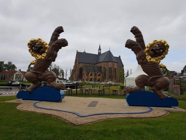 The 11Fountains project has taken years to come to fruition and includes the spectacular 'Wild Lions of Workum' situated in the town of Workum