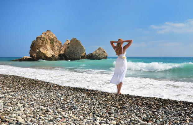 Aphrodite's Rock, on the south western coast of Cyprus