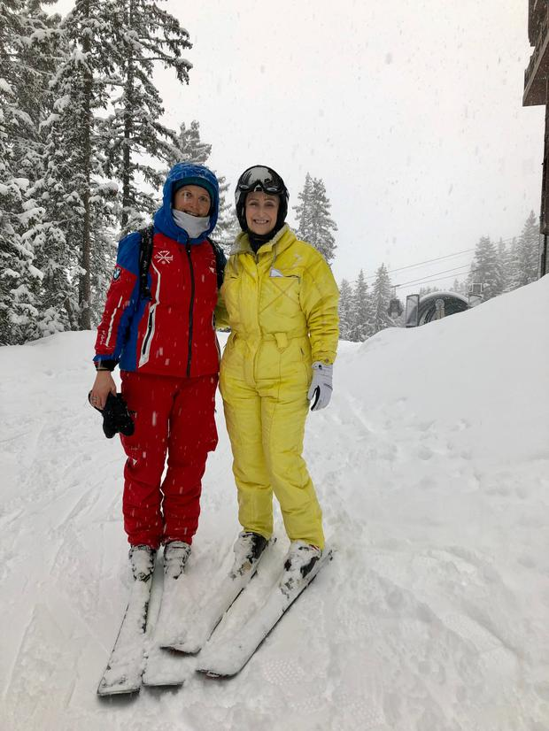 Gemma on the slopes with Carole