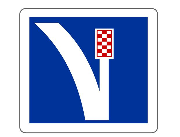 Emergency lane with gravel pit (Switzerland)