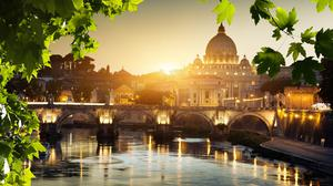 Rome is like a painter's palette, with the colours of the city reflected in the water of the river Tiber
