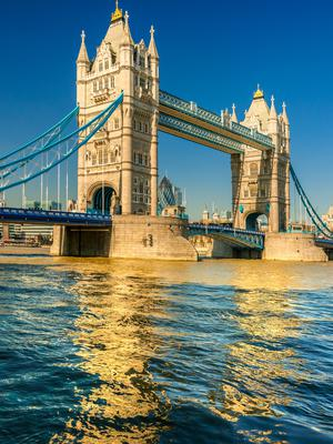 Sail away: London's Tower Bridge which parts especially for Le Boréal as it floats down the Thames