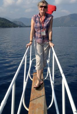 All at sea: Deirdre Conroy enjoys exploring Marmaris bay by boat.