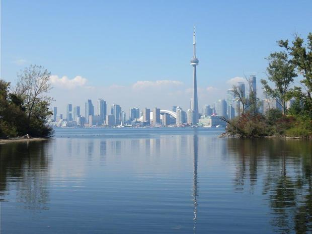 A view of Toronto from the islands. Photo: Twitter / @IamColdBear