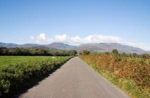 Open road with oOmeragh Mountains. Photo: Deposit