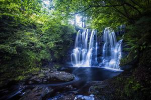 After a wet spell, the waterfalls will put on a spectacular display along the Glenariff Forest Park in Co Antrim. Photo: Tourism Northern Ireland