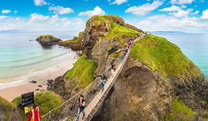 The clifftop walk to the Carrick-a-Rede rope bridge is a sight in itself