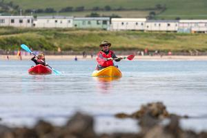 Water works: Pól Ó Conghaile kayaking at Ardmore, Co Waterford