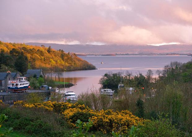 View of Lough Corrib from The Lodge at Ashford Castle