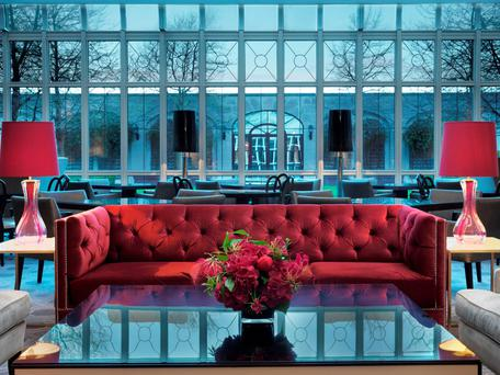 The lobby at the Intercontinental hotel, Dublin