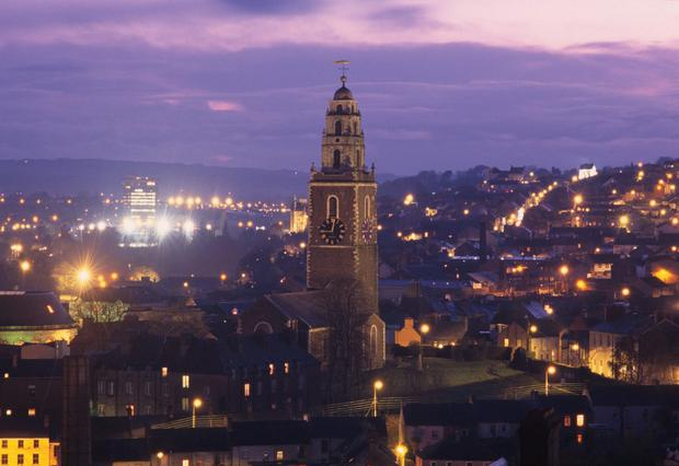 Night falls: Cork is a compact city, with lots of things to keep the visitor entertained.
