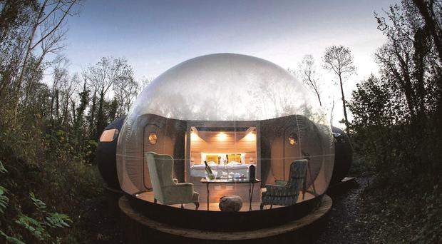 Finn Lough's transparent domes.