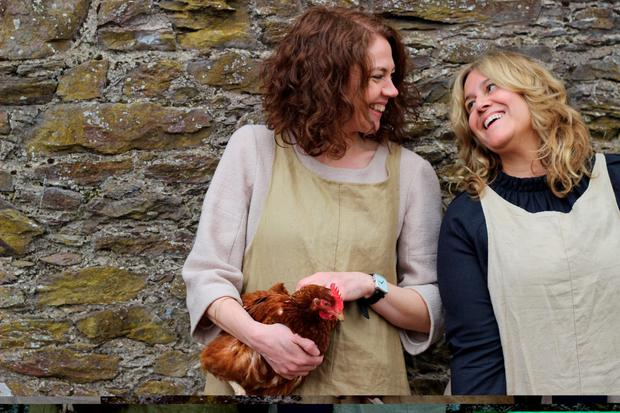 Foodies Cliodhna Prendergast and Imen McDonnell - author of 'The Farmette Cookbook' - organise the Lens & Larder photography retreats.