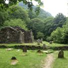 The ruins of 11th Century Reefert Church in Glendalough. This church stands on the burial site of the local chieftan's clan, the O'Tooles.