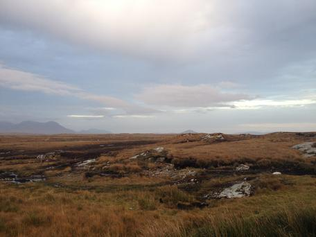 A view of the beautiful bog landscape at Derrigimlagh