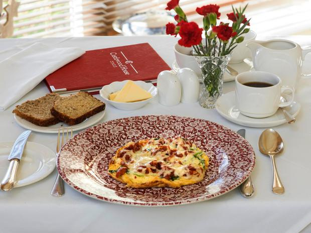 Omlette prepared by Brian Heaton of Castlewood House. Photo: Don MacMonagle