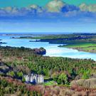 Mayo with the Atlantic in the background, and Beleek Castle in the foreground