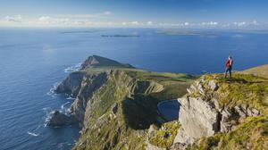 The view of Saddle Head from Croaghaun, Achill Island, Co Mayo