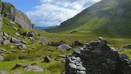 A view from the abandoned village in Cumeengeera. Photo: Pól Ó Conghaile