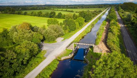 A section of the Royal Canal Greenway in Co Meath