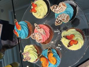 Butterfly cupcakes at the Intercontinental Dublin