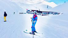 Gemma skiing in Tignes