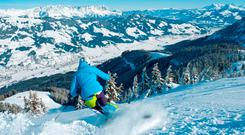 Skiing near Westendorf, in the Kitzbuheler Alps. Photo: kitzbuehelera-alpen.com