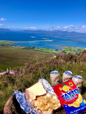 Mairín Egan enjoyed a traditional Irish picnic with her best friends, half-way up Croagh Patrick, overlooking Clew Bay, Co Mayo
