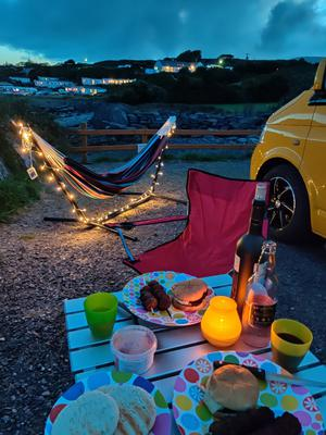 Aislinn McFadden went from Cork to Galway in 'Tonka', a yellow VW camper rented from Lazy Days. 'Being tourists in our own country was a new idea for us'