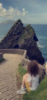 """Elaine McManus's 10-year-old son, Tommy, at Dunquin Pier, Co Kerry. Tommy has autism and really struggled with the school closure and lack of routine but more importantly, he missed the water.... We sat here for hours just listening to the wind and watching the waves.... He had a smile from ear to ear all day."""""""