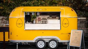 Ian Ussher hatched his bright yellow Cluck Chicken Truck last year