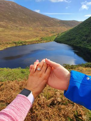 'We might get to Dubai for our honeymoon...' After cancelling the trip of a lifetime, Kelly Hodgins climbed the Knockmealdown Mountains and had a surprise marriage proposal at Bay Lough.