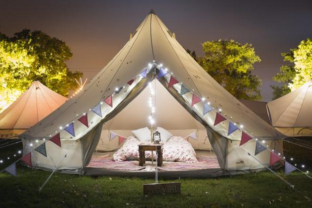 A beautiful Summer Glamp bell tent in Wexford